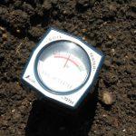 石灰散布後のpH値測定