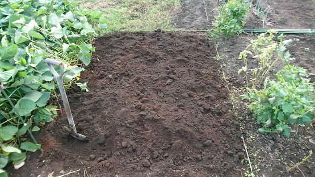 冬野菜の土作り
